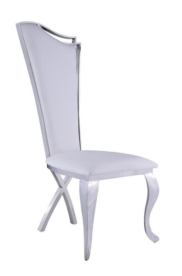 Nadine Dining chair in White Leatherette