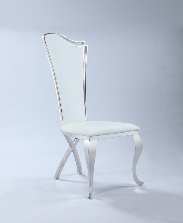 Nadine Dining chair in White Upholstery
