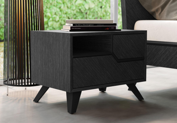 Raven Night stand in Oak Grey