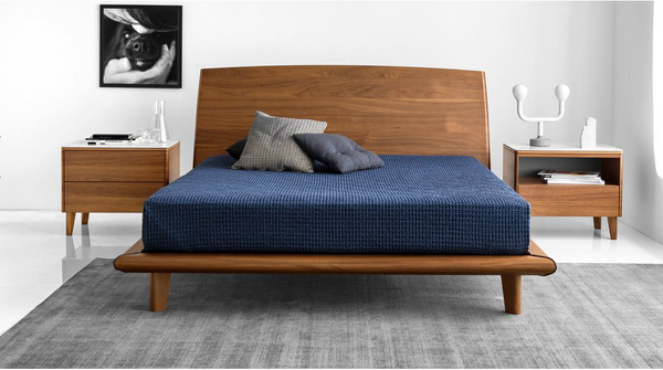 Dixie Bed By Calligaris in Walnut