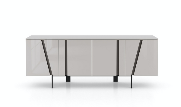 Mateo Sideboard in Glossy Gray