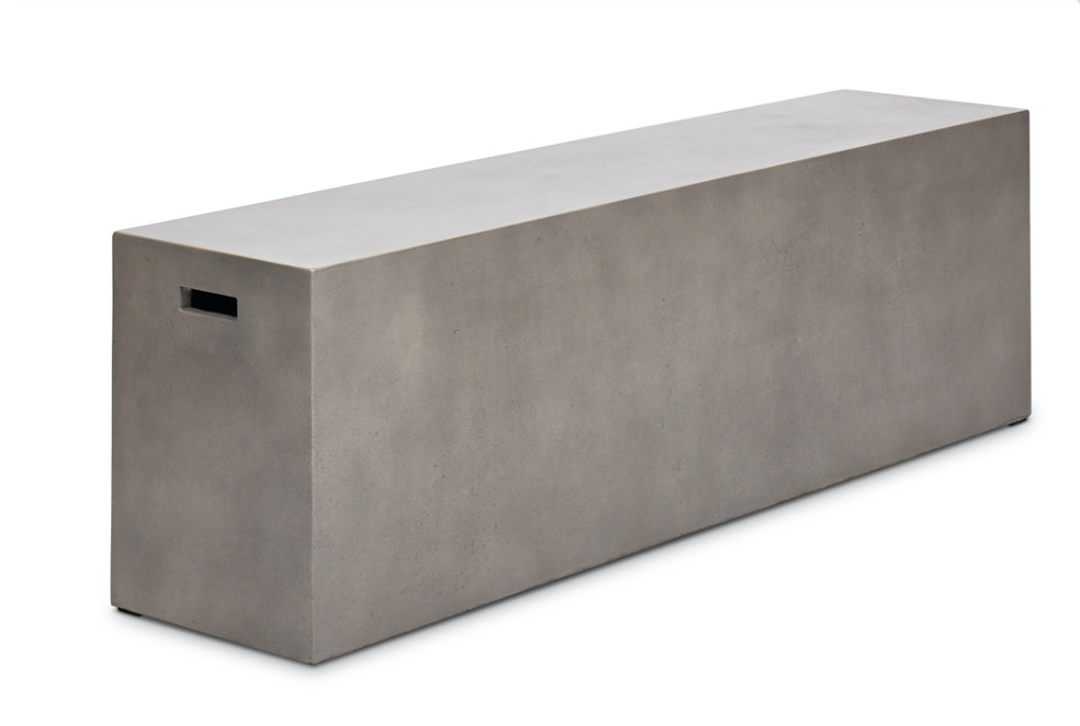 Eclair  outdoor concrete bench 60""