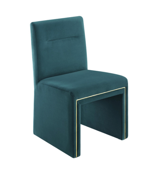 Yafa Dining Chair Teal velvet