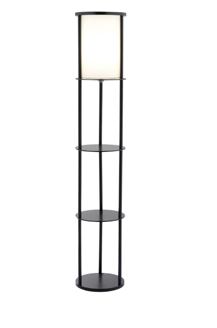 Stewart Shelf Floor Lamp - Euro Living Furniture