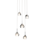 Eisa™ – Model 83047 5-Light Spiral Mini Pendant Chandelier - Euro Living Furniture