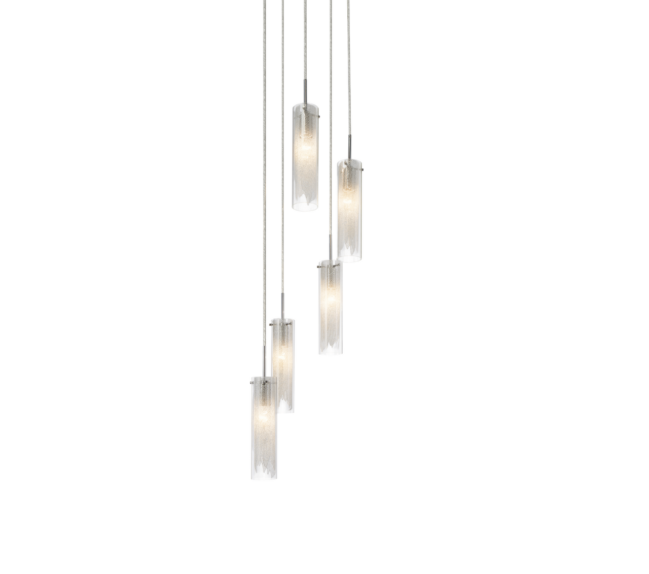 Krysalis™ – Model 83067 5 Light Spiral Mini Pendant Chandelier - Euro Living Furniture