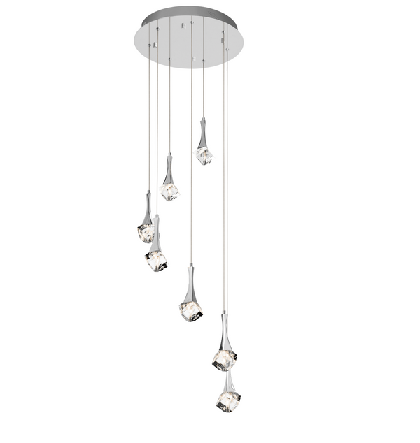 Rockne™ – Model 83774 LED 7-Light Pendant Spiral Cluster
