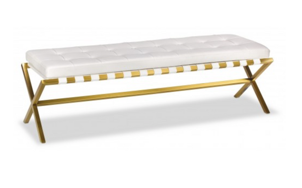 Bethany Bench - Gold - Euro Living Furniture