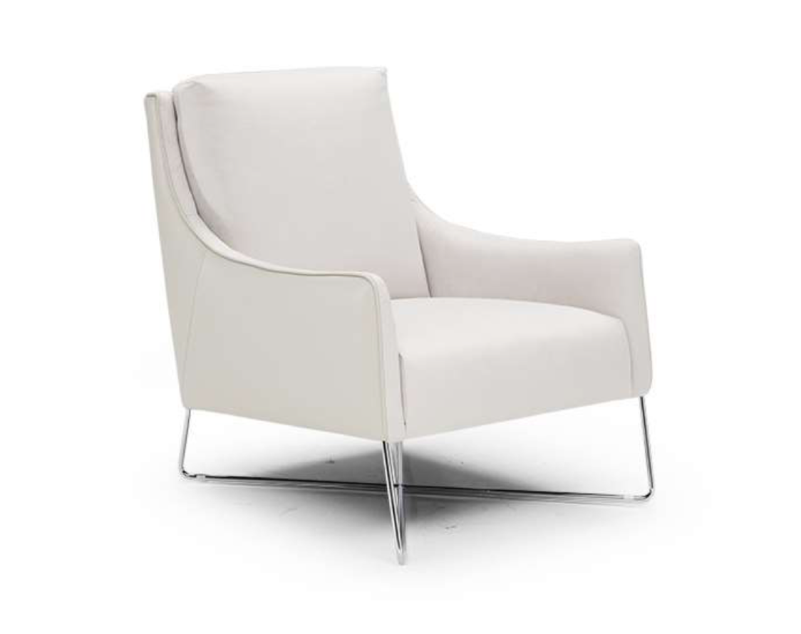 ROMINA Chair by NATUZZI - White Leather (Special Order)