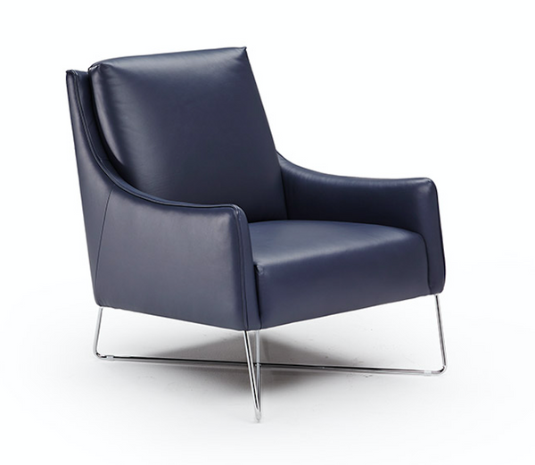 ROMINA Chair by NATUZZI - Navy Leather