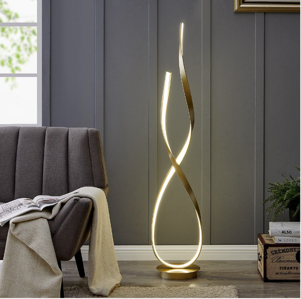 001 LED Floor Lamp - GOLD - Euro Living Furniture