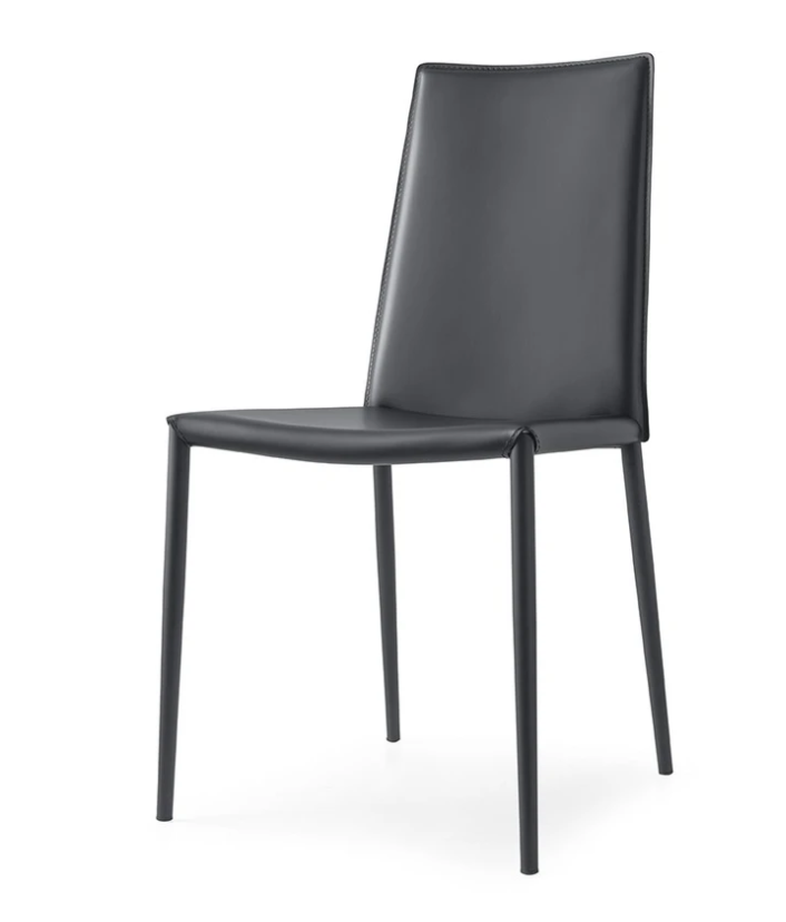 Boheme Leather Chair in Grey