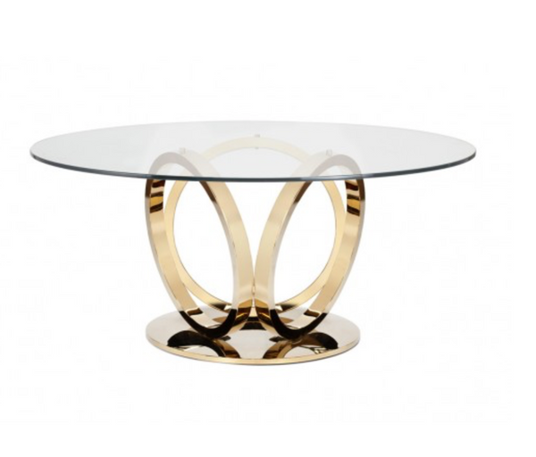 "GIO 60"" DINING TABLE - GOLD"