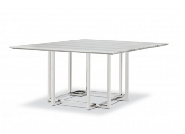 LIN SQUARED MARBLE DINING TABLE