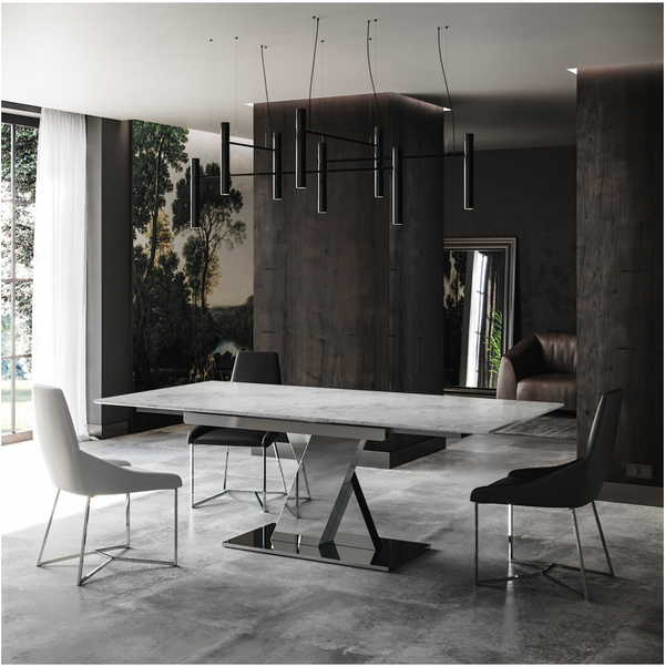"BELAMY DINING TABLE  63"" - 87"""