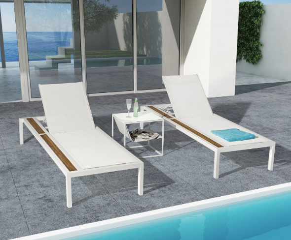 Polina outdoor chaise lounge - Taupe