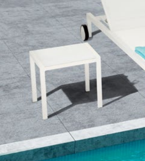 Bella Outdoor Side Table in White