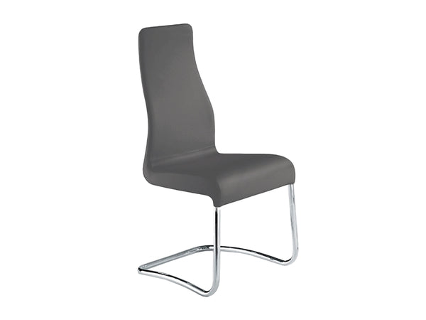 Florin Grey Dining Chair - ITALIAN Leather