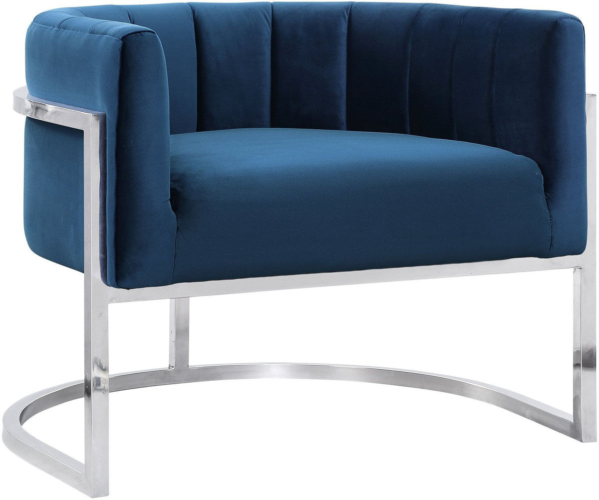 Magna Navy Chair with Silver Base