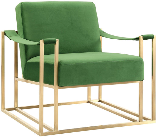 Baron Green Velvet Chair - Euro Living Furniture