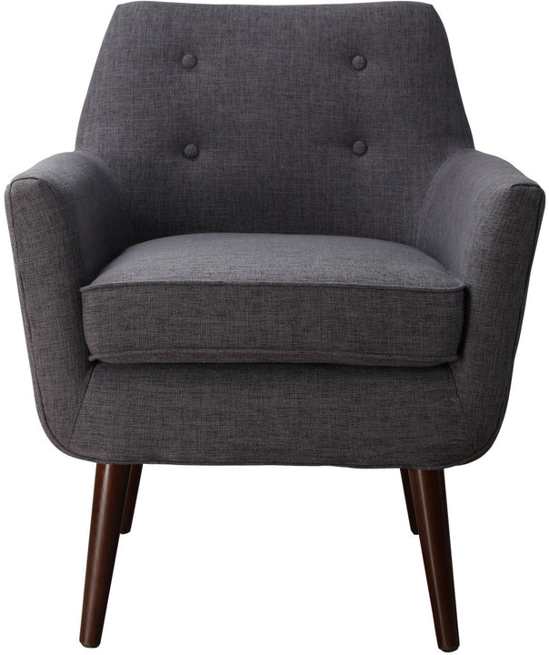 Cade Grey Linen Chair - Euro Living Furniture