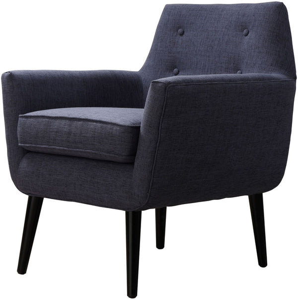 Cade Navy Linen Chair - Euro Living Furniture