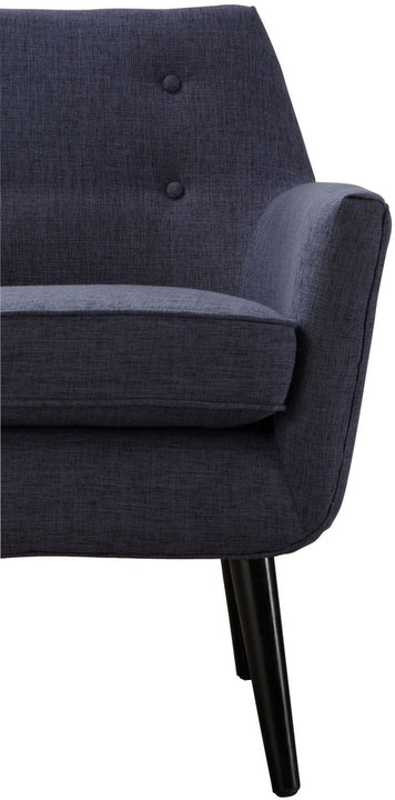 Cade Navy Linen Chair
