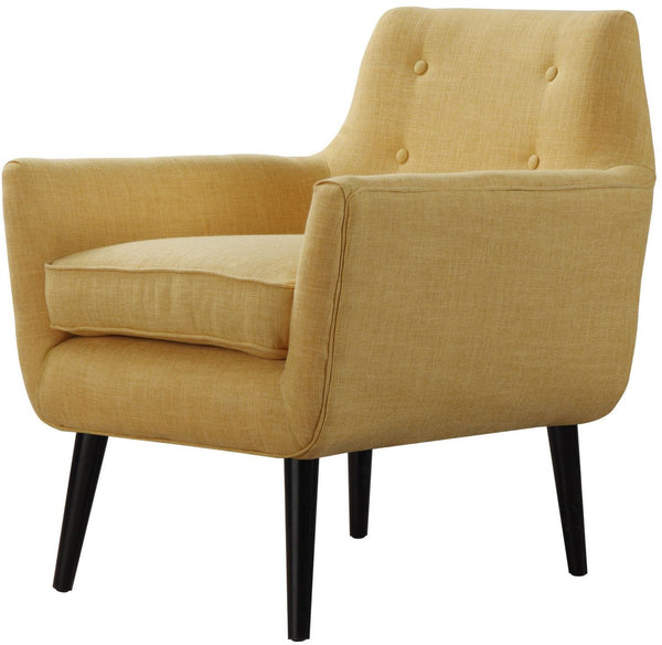 Cade Mustard Yellow Linen Chair - Euro Living Furniture