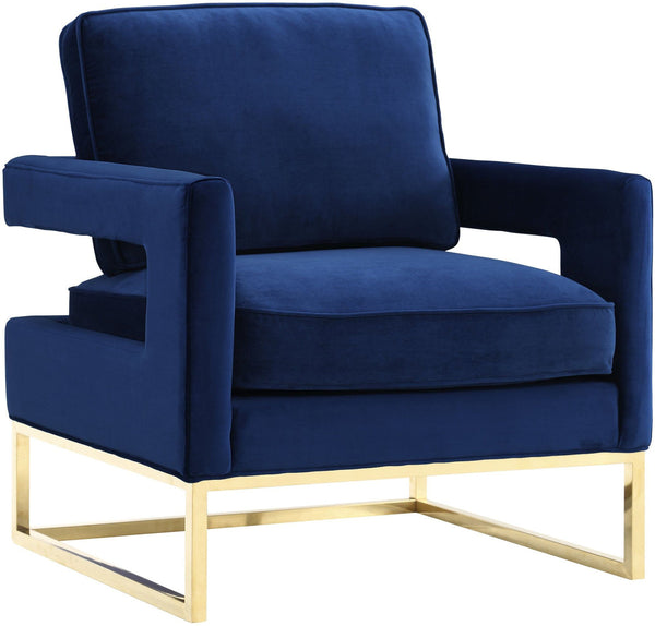 Annabelle Navy Velvet Chair