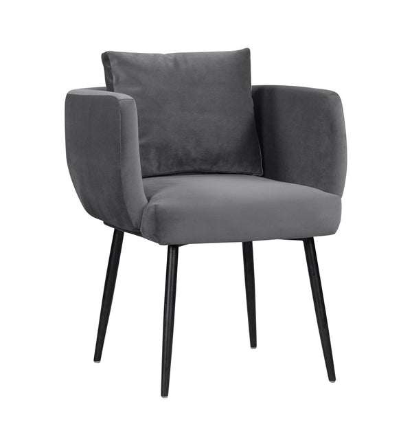 Atlanta Grey Velvet Dining Chair