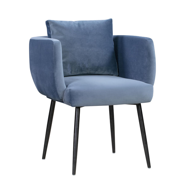 Atlanta Blue Velvet Dining Chair