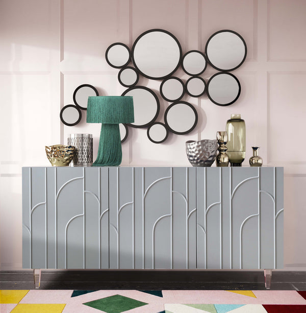 Demi Grey Lacquer Buffet