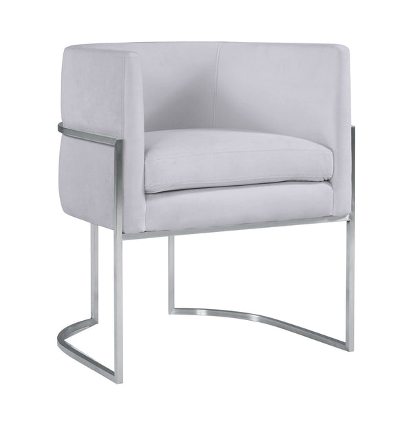 Geraldine Grey Velvet Dining Chair