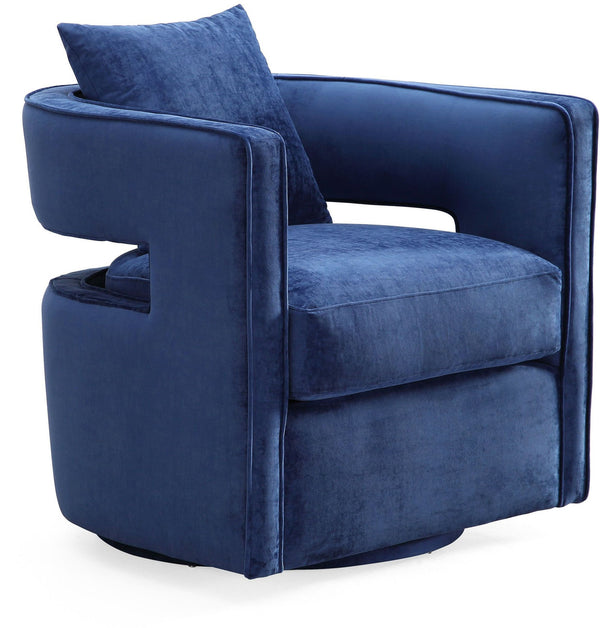 Kendrick Navy Swivel Chair