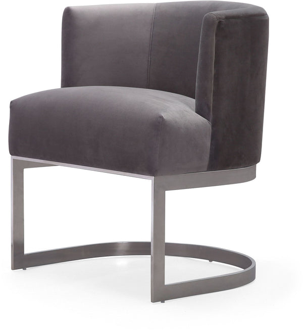 Everly Grey Velvet Chair