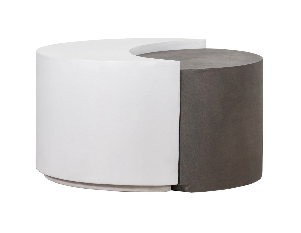 Devin Grey and White Concrete Cocktail Table