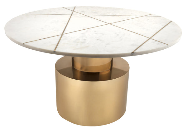Tanzo White Marble Coffee Table