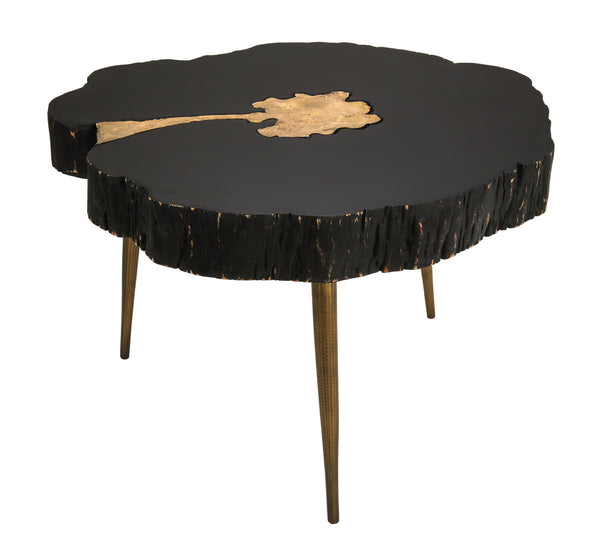 Black and Brass Coffee Table