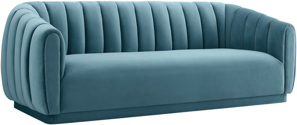 Arnold Sea Blue Velvet Sofa
