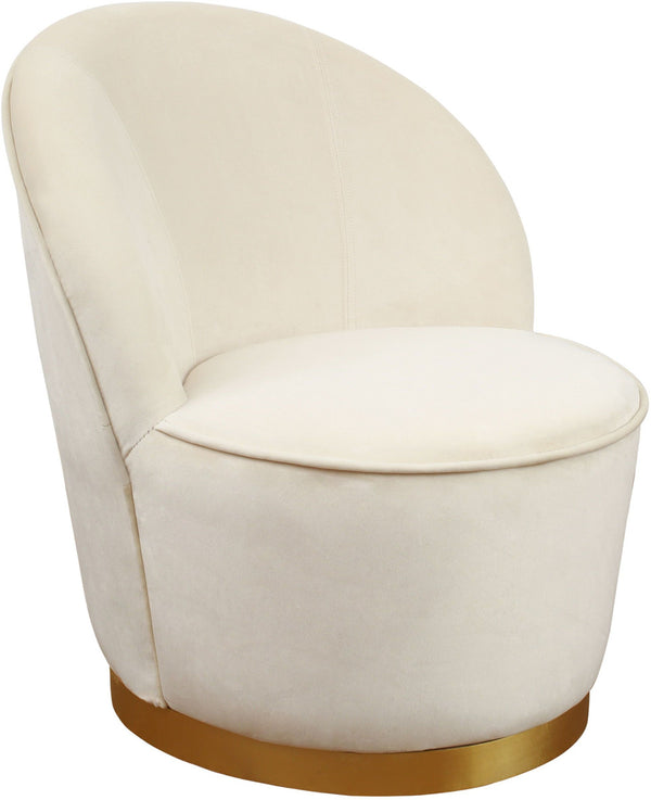 Jolly Ivory Velvet Junior Chair