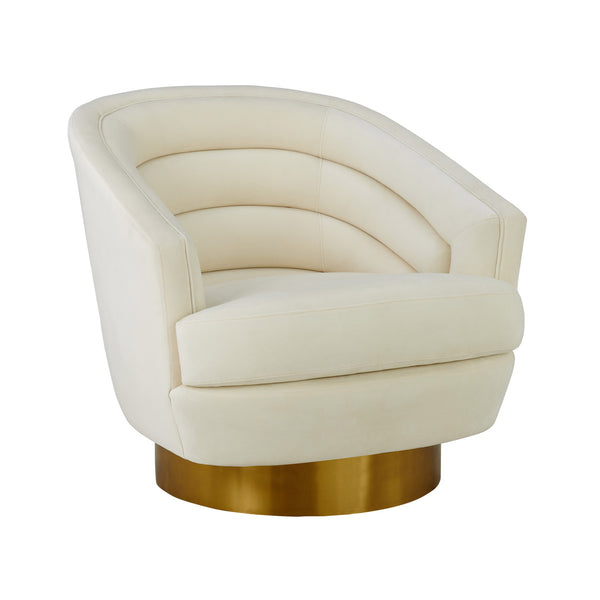 Canova Cream Velvet Swivel Chair