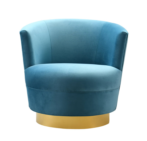 Novak Lake Blue Swivel Chair