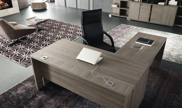 Tevo Office Desk with Return