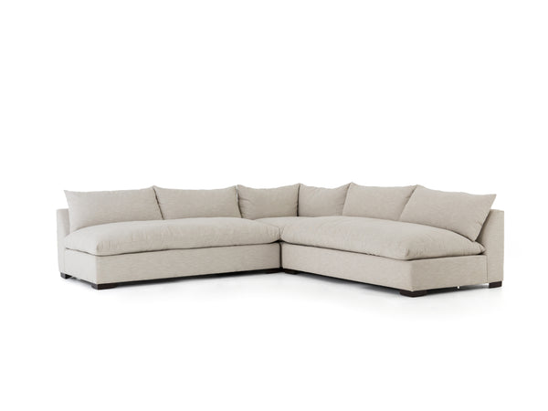 GRANADA 3-PIECE SECTIONAL in OATMEAL