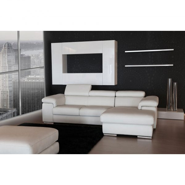 Alina Sectional - White Leather - Euro Living Furniture