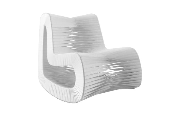 Seat Belt Rocking Chair in White