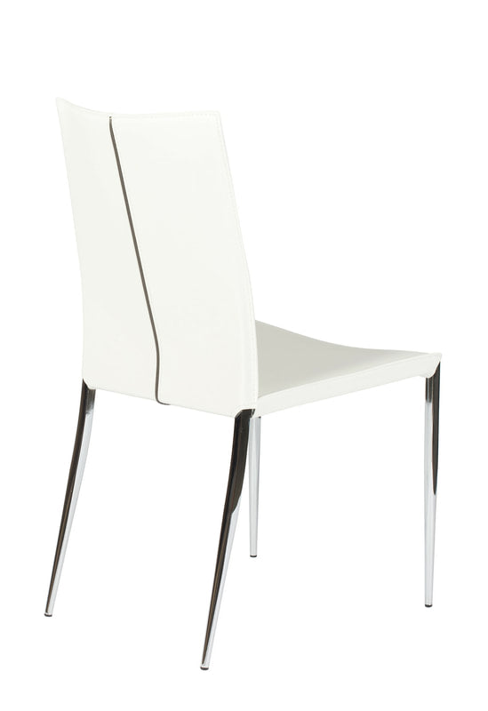 Max White Side Chair