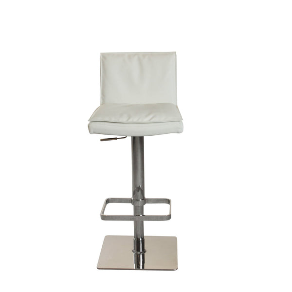 Amalfi Hydraulic Bar Stool - White