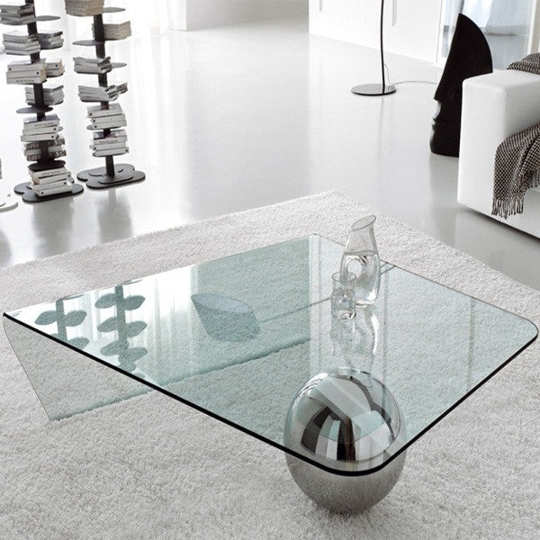 Globe Glass Coffee Table - Euro Living Furniture