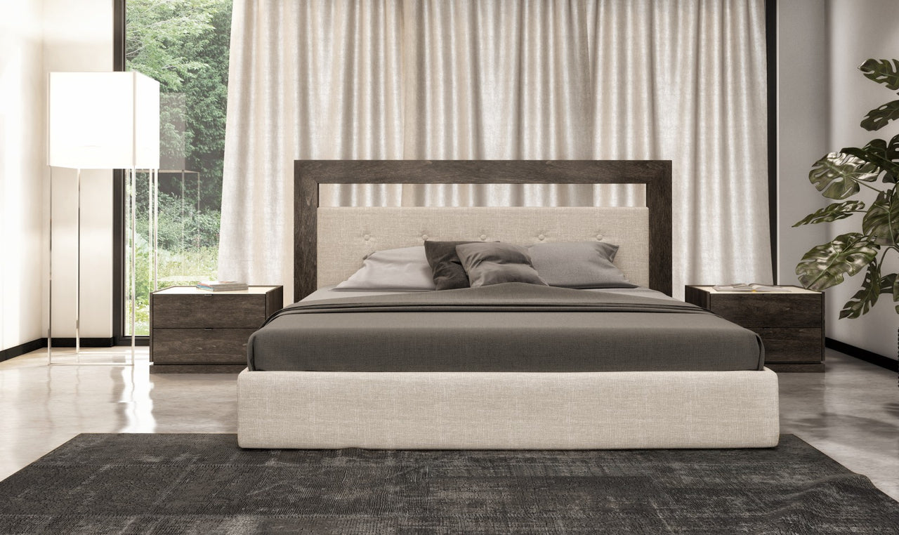 Cloe Upholstered Bed with Panel Support